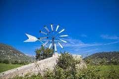 Windmill in Mallorca. Traditional old windmill of Mallorca Royalty Free Stock Image