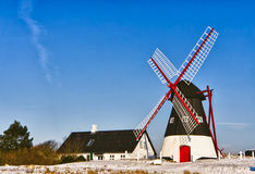 Windmill on Mando, Ribe, Denmark Royalty Free Stock Images