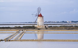 Windmill in Marsala Royalty Free Stock Image
