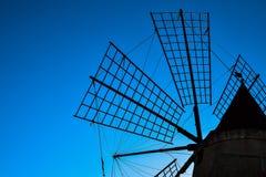 Windmill - Marsala -Sicily - Italy Stock Photos