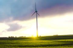 Windmill on a Meadow - Masurian Landscape Stock Image