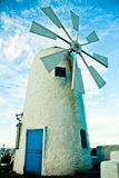 Windmill With Mediterranean Style Stock Images