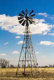 Windmill in the middle of wheat field Stock Photography