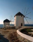 Windmill of Mikonos Stock Photo