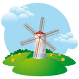 Windmill, mill, harvest Royalty Free Stock Image