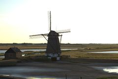Windmill, Mill, Wind, Building royalty free stock photo