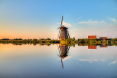 Windmill mirror Royalty Free Stock Photos