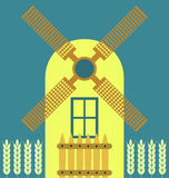 Windmill modern. Flat icon, traditional dutch style vector illustration