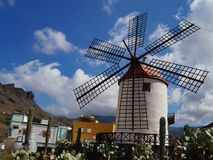 Windmill in Mogan Royalty Free Stock Images