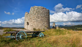 Windmill of the Mure - Vassieux in Vercors - France Stock Photos