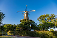 Windmill museum de Valk. Windmill museum de Valk in the center of Leiden in the Nederlands stock photo