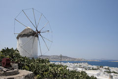 Windmill in Mykonos Stock Image