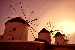 Windmill of Mykonos Royalty Free Stock Images