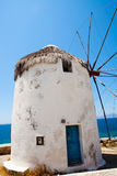 Windmill in Mykonos, Greece Royalty Free Stock Photography