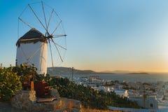 Windmill of Mykonos Stock Photos