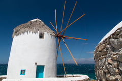 Windmill on Mykonos Stock Photos