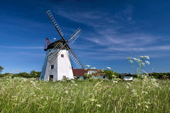 Windmill Myreagre Molle On Bornholm Stock Photo - Image of ...