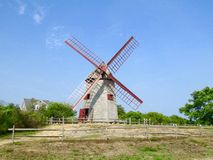 Authentic Windmill in Nantucket. Oldest running windmill on Nantucket in the U.S Stock Images