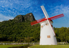 Windmill at national park Stock Photography