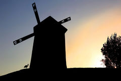 Windmill native. A real Windmill photographed against the light stock photography