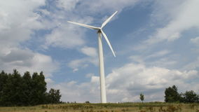 Windmill in nature stock footage