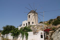 Windmill on Naxos island Royalty Free Stock Photo