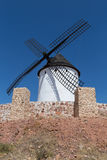 Windmill near Alcazar de San Juan Royalty Free Stock Photo
