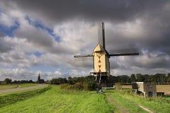 Windmill near Batenburg. Windmill on a dike along the river Maas near the Dutch village Batenburg Royalty Free Stock Photography