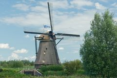 Windmill near Kinderdijk in NL (UN world heritage) Royalty Free Stock Image