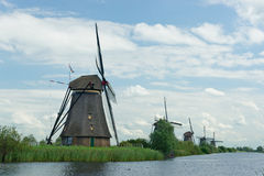 Windmill near Kinderdijk in NL (UN world heritage) Royalty Free Stock Images