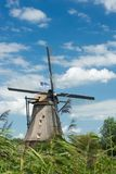 Windmill near Kinderdijk in NL (UN world heritage) Stock Photo