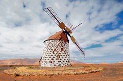 Windmill near La Oliva in Fuerteventura Spain Stock Image