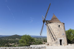 Windmill near Le Chateau les Moulins Royalty Free Stock Photos