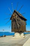 Windmill in Nesebar, Bulgaria Stock Images