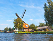 Windmill in Netherland. Antique traditional Windmill in Netherland Stock Photos