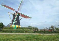Windmill. Netherlands landscape Royalty Free Stock Image