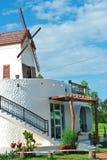 Windmill netherlands style  : Café Royalty Free Stock Photo