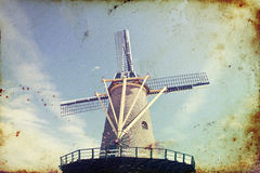 Windmill in Netherlands Stock Images