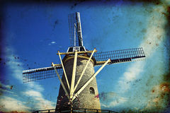 Windmill in Netherlands Stock Photo
