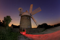 Windmill at night Stock Photography