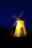 Windmill at night Royalty Free Stock Photo