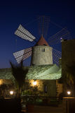 Windmill at night Stock Photography
