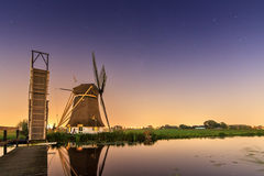 Windmill nightscape Royalty Free Stock Images