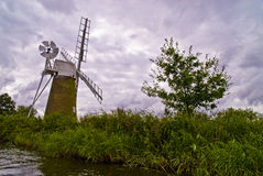 Windmill in Norfolk. Windmill on the Norfolk Broads Stock Images