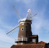 Windmill in Norfolk, England stock photos