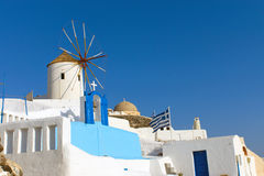 Windmill in Oia Royalty Free Stock Images