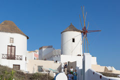 Windmill in Oia, Santorini Stock Images