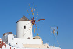 Windmill in Oia, Santorini Stock Photography