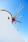 Windmill in Oia, Santorini. Greece Stock Photo