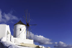 Windmill Oia on Santorini. Greece Royalty Free Stock Photography